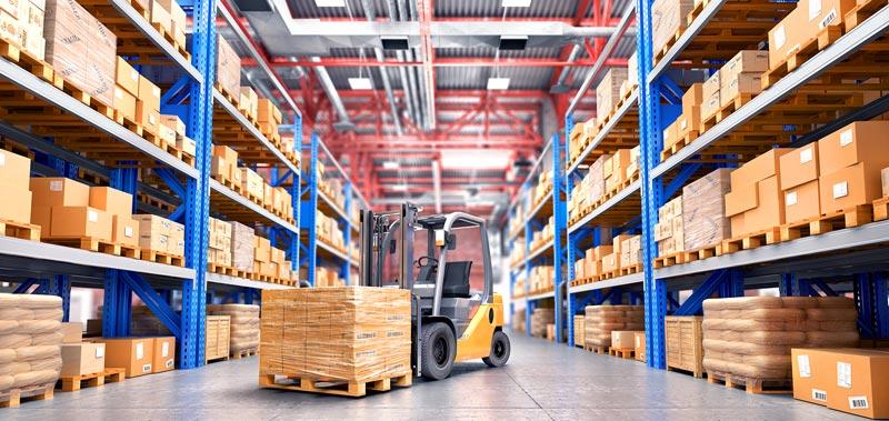 Paleco Lagerhalle Logistik Gabelstapler
